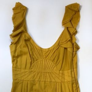 Catherine Malandrino Mustard Cotton Summer Dress